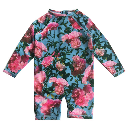 Rash Guard - Blue Flowers
