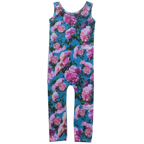 Roro Romper - Blue Flowers