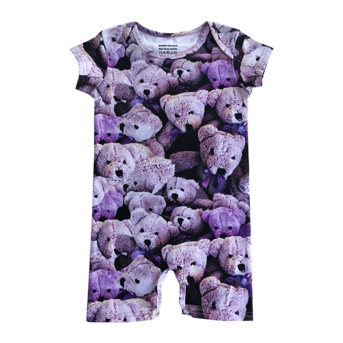 Short Romper - Purple Bears