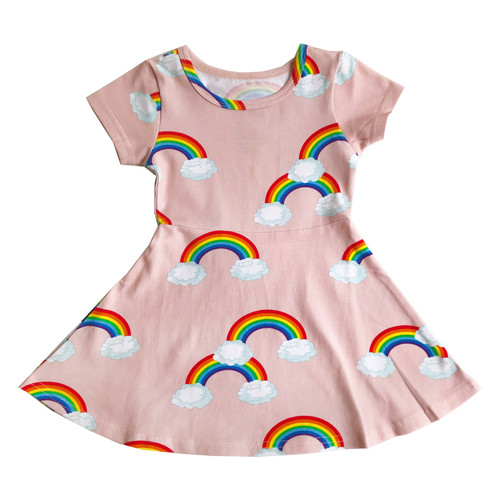 Skater Dress - Pink Rainbows