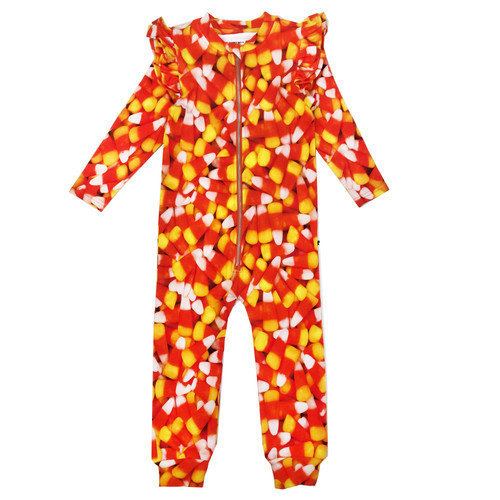 Ruffle Spacesuit - Corn Candy