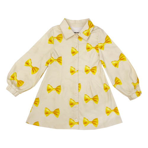 Gigi Dress - Bows-Yellow