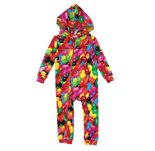 Zipper Hooded Spacesuit - Jelly Beans
