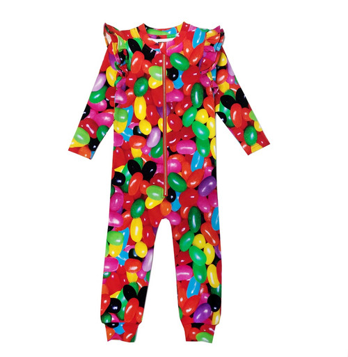 Ruffle Spacesuit - Jelly Beans