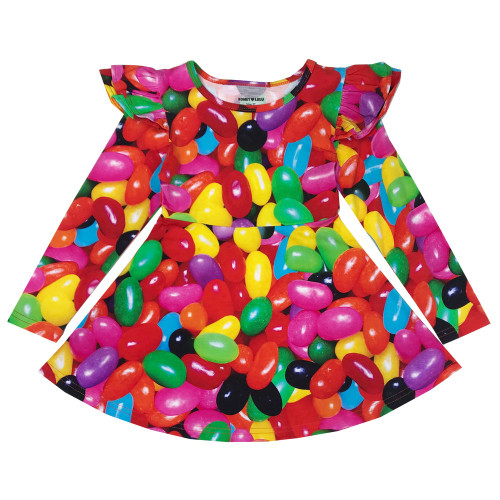 Ruffle Dress - Jelly Beans
