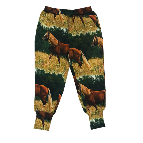 Long Cuff Sweatpants - Horses