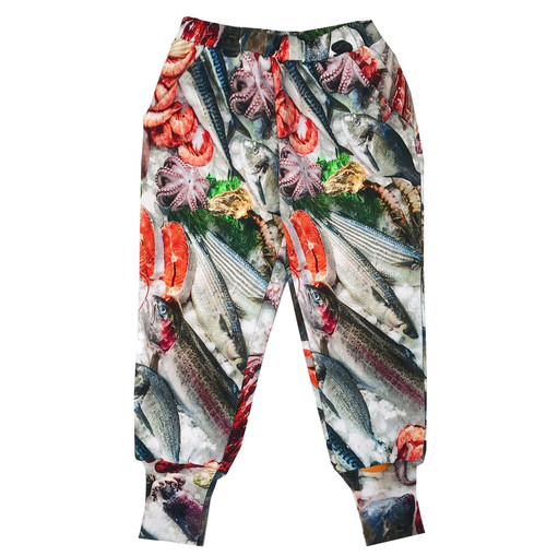 Long Cuff Sweatpants - Seafood