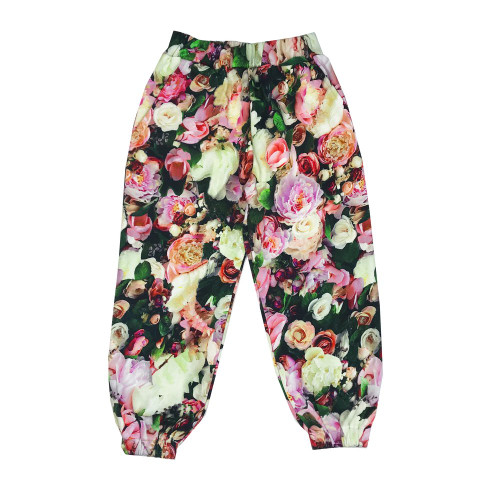 80's Sweatpants - Peonies