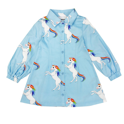 Gigi Dress - Rainbow Horses