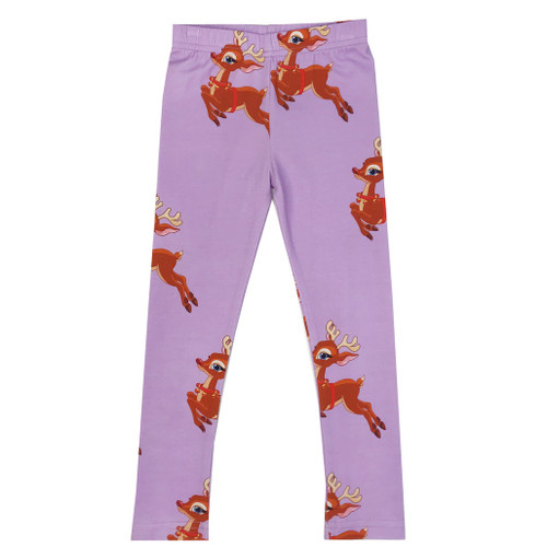 Leggings - Reindeer-Purple