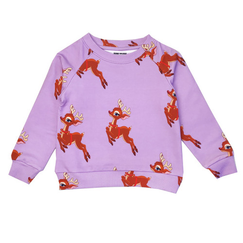 Sweatshirt - Reindeer-Purple