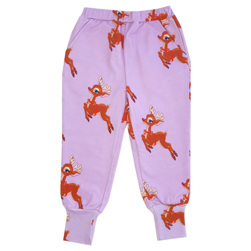 Long Cuff Sweatpants - Reindeer-Purple