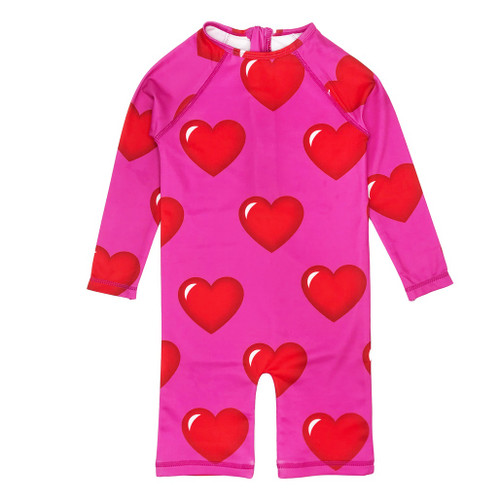 Rash Guard - Hearts-Pink