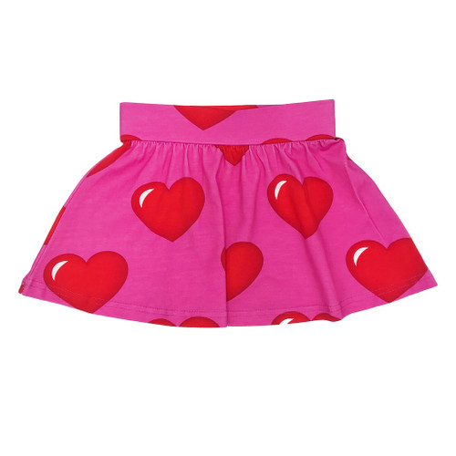 Skirt - Hearts-Pink