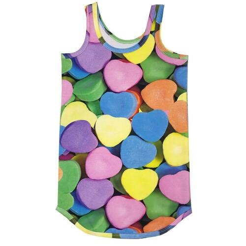Tank Dress - Candy Hearts
