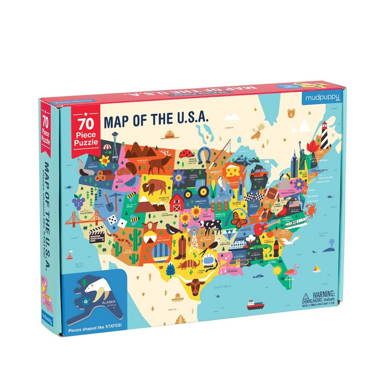 Map of the U.S.A. Puzzle - Detroit Insute of Arts Museum Shop Detroit Insute Of Arts Map on
