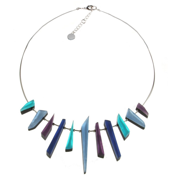 Denim Icicle Necklace