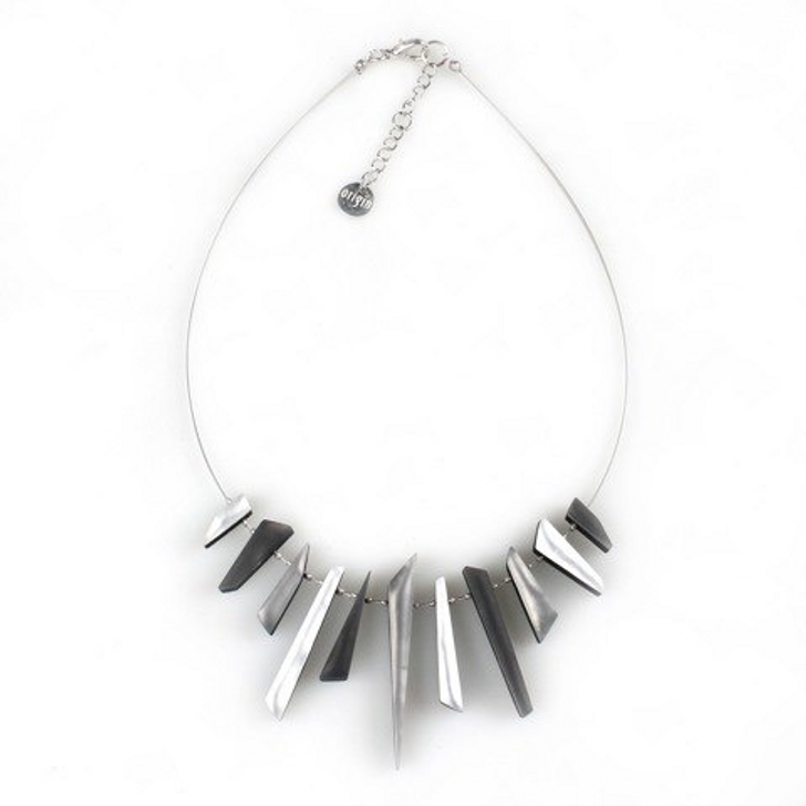 Black & White Icicle Necklace
