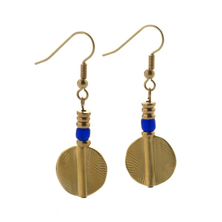 African Akan Disc Earrings