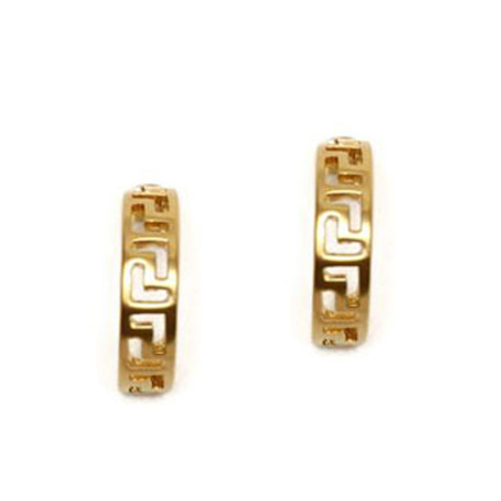 Classic Meander Link Clip Earrings