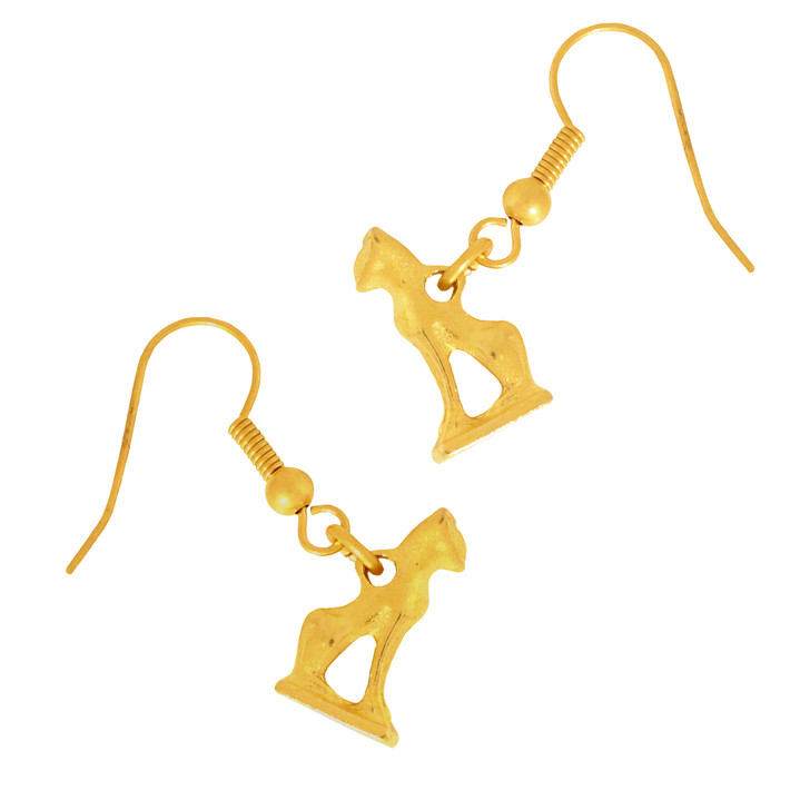 Egyptian Cat Amulet Earrings