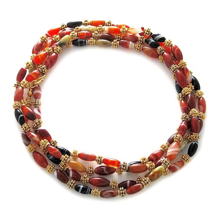 "Banded Agate 59"" Necklace"