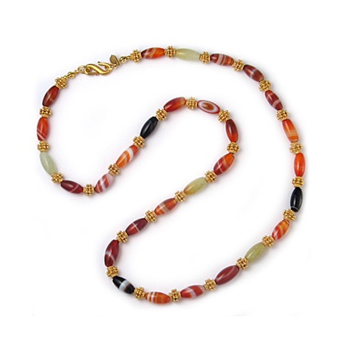 """Banded Agate 22"""" Necklace"""