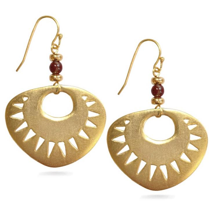 Pre-Columbian Sun Earrings