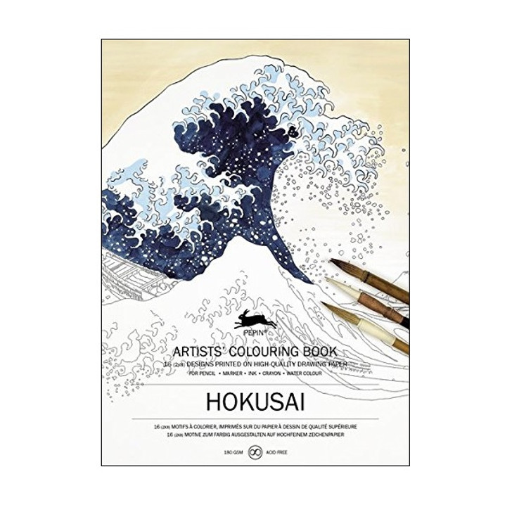 Hokusai Coloring Book