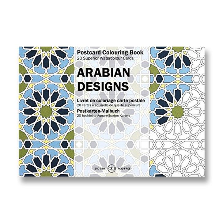Arabian Designs Coloring Postcards