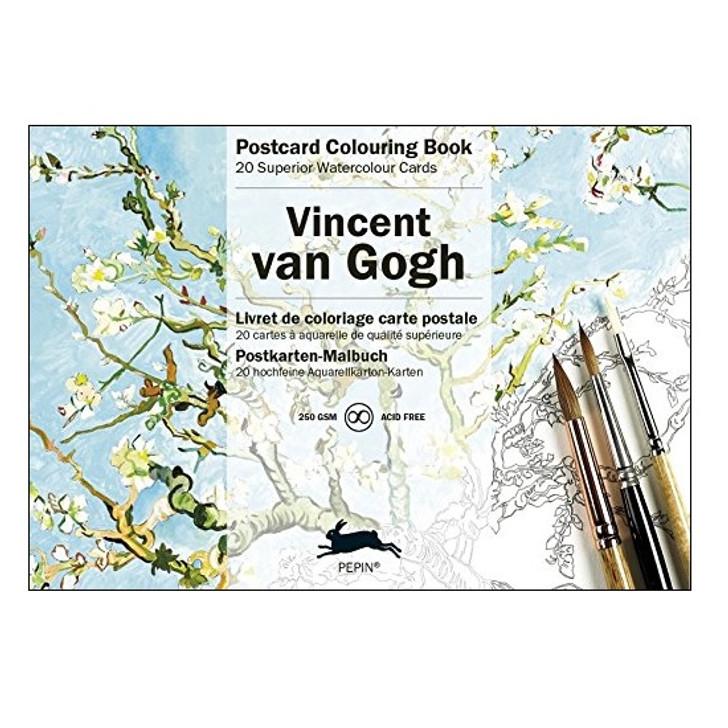 Van Gogh Coloring Postcards