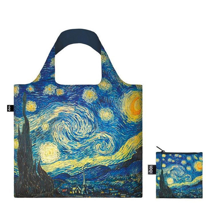 Starry Night, Van Gogh Tote Bag with Pouch