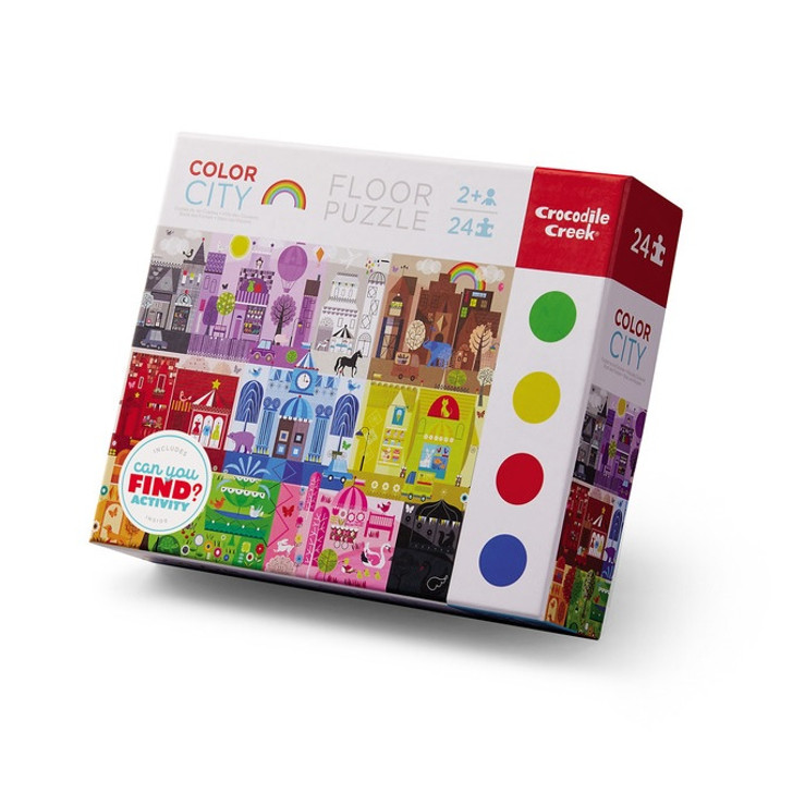 Early Learning Color City Floor Puzzle