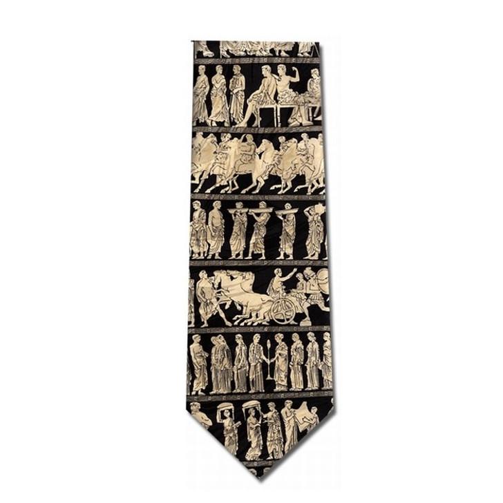 Greek Pan Procession Silk Tie