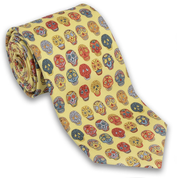 Day of the Dead Silk Tie