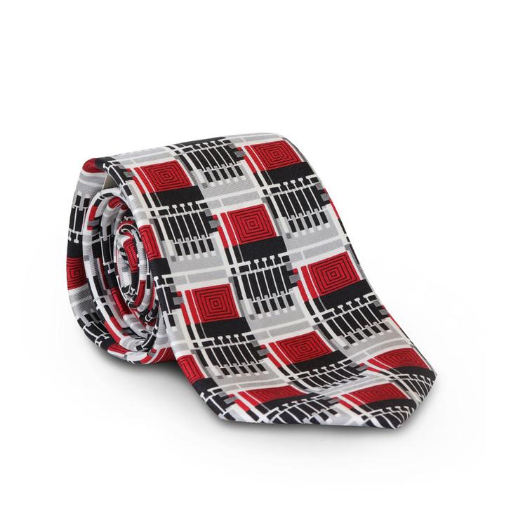 Frank Lloyd Wright Silver Design 102 Silk Tie
