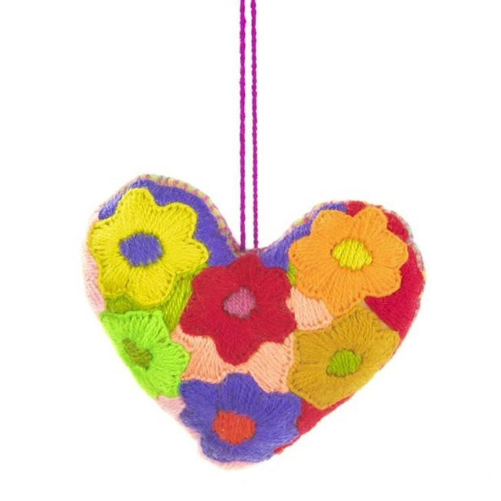 Wool Heart Ornaments