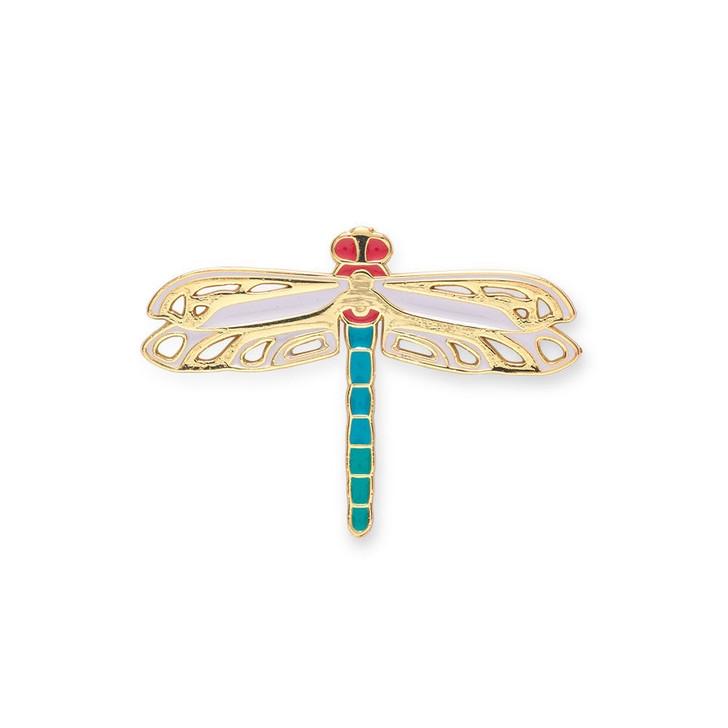 Louis Comfort Tiffany Dragonfly Enamel Pin
