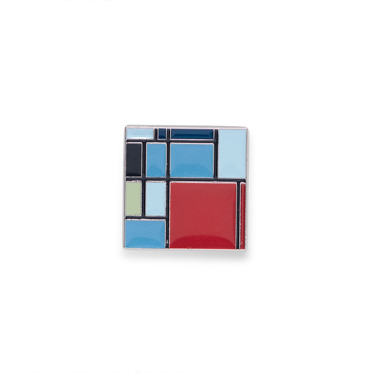 Mondrian Composition Enamel Pin
