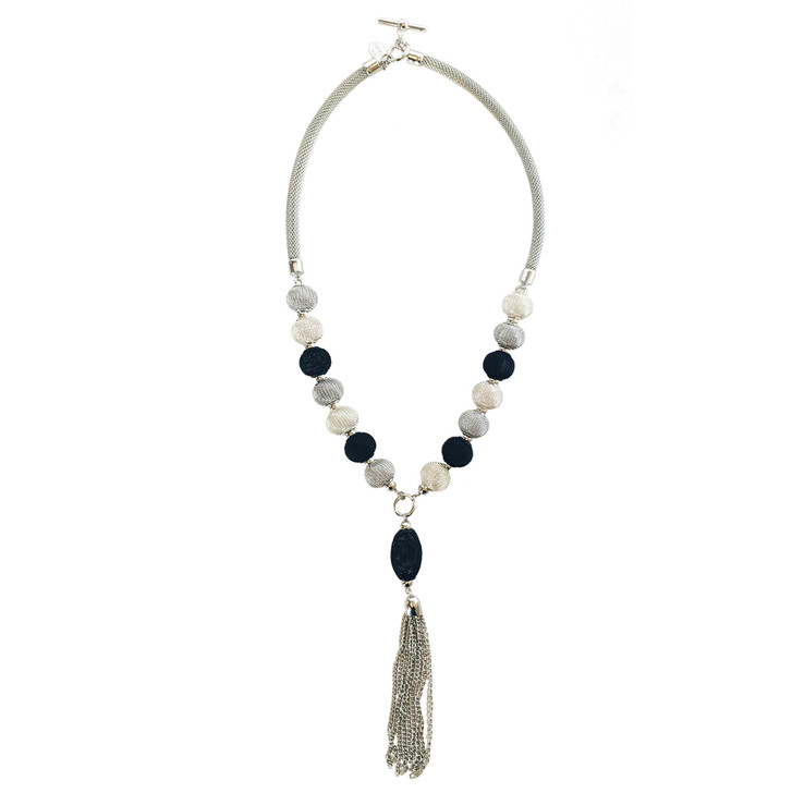 Mesh Necklace with Tassel