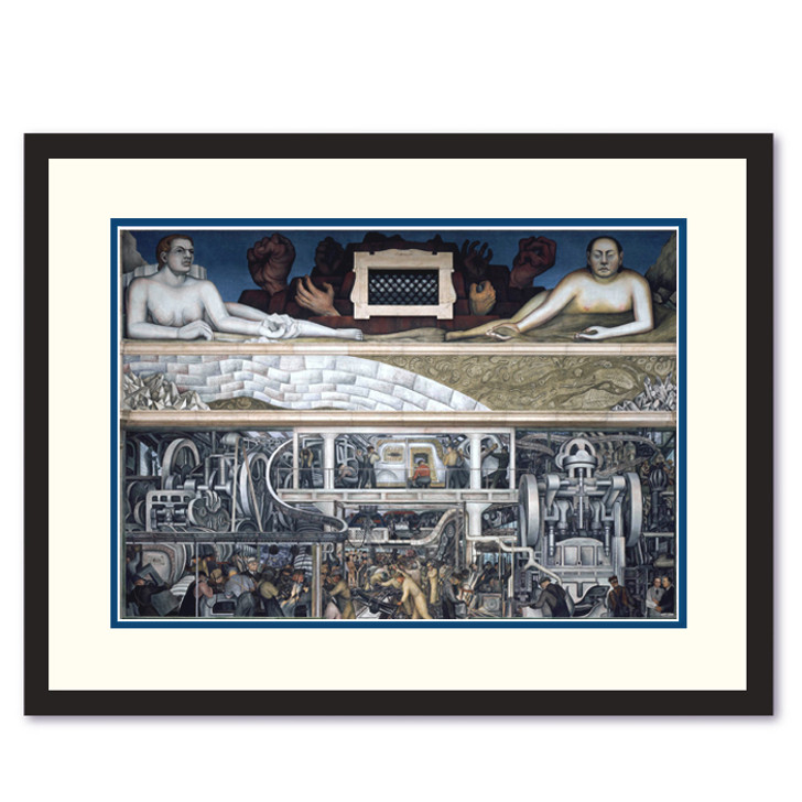 Diego Rivera Detroit Industry South Wall Framed Print
