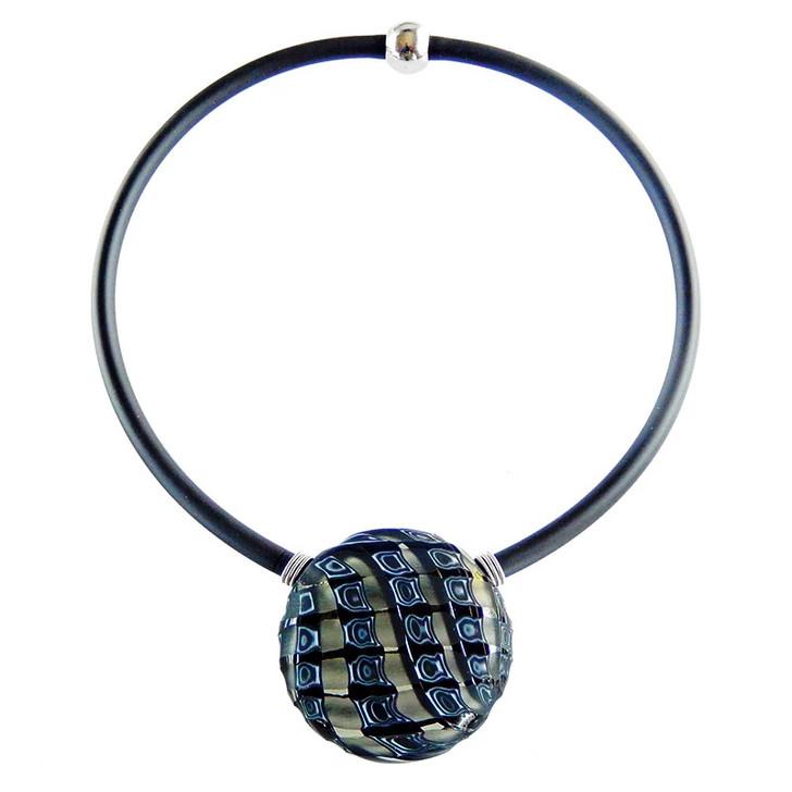 Black Murano Glass Venezia II Necklace