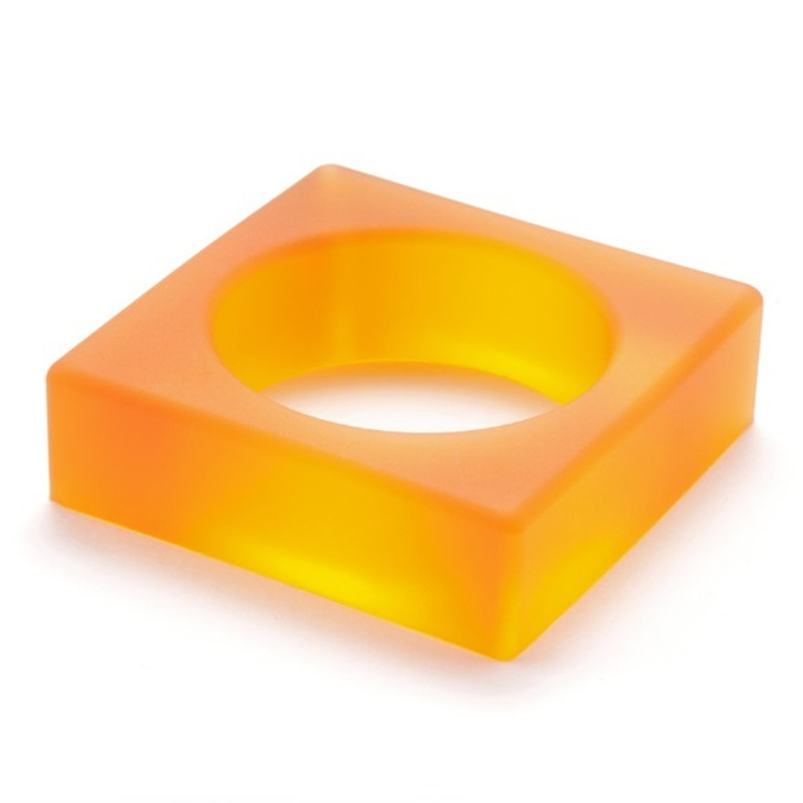 Orange Square Gel Bracelet