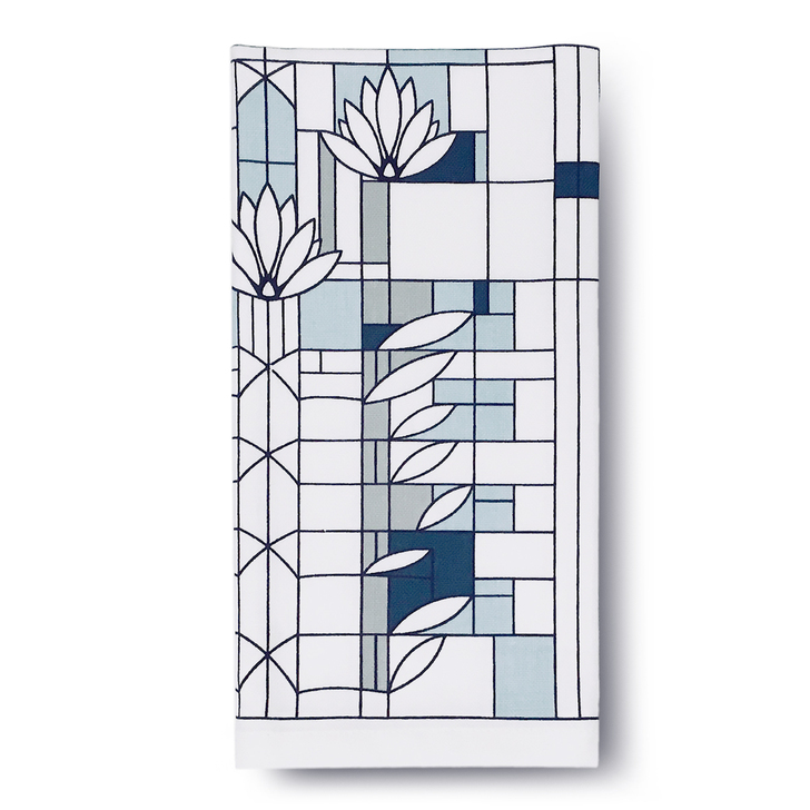 Frank Lloyd Wright Waterlilies Cotton Napkin