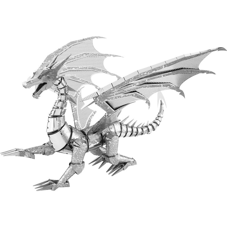 Silver Dragon Metal Model