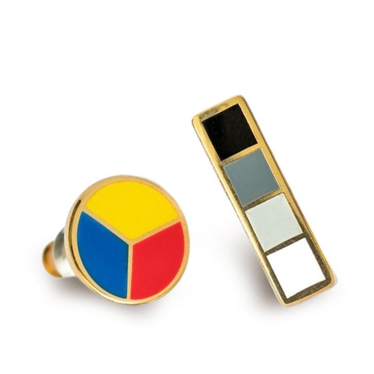Color Wheel & Grayscale Earrings