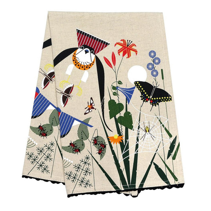 Charley Harper Meadow Tea Towel