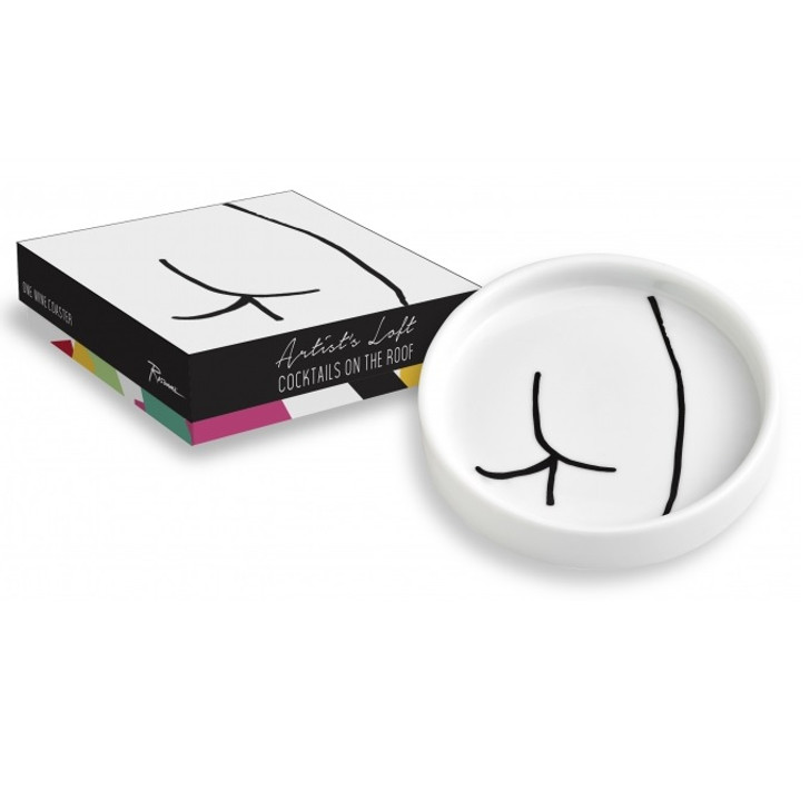 Abstract Derriere Wine Coaster