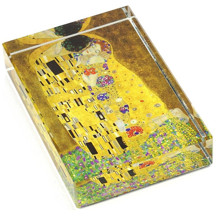 The Kiss. Klimt Crystal Deskpop Paperweight