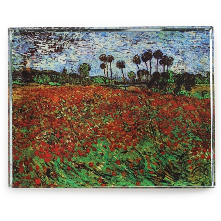 Field of Poppies, Monet Crystal Deskpop Paperweight